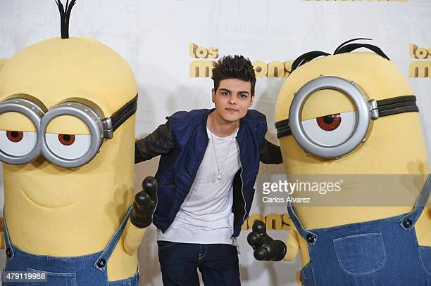 Spanish singer Abraham Mateo attends 'The Minions' photocall at the Hesperia Hotel on July 1 2015 in Madrid Spain