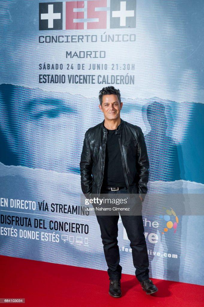 Alejandro Sanz Attends 'Mas' Tour Press Conference