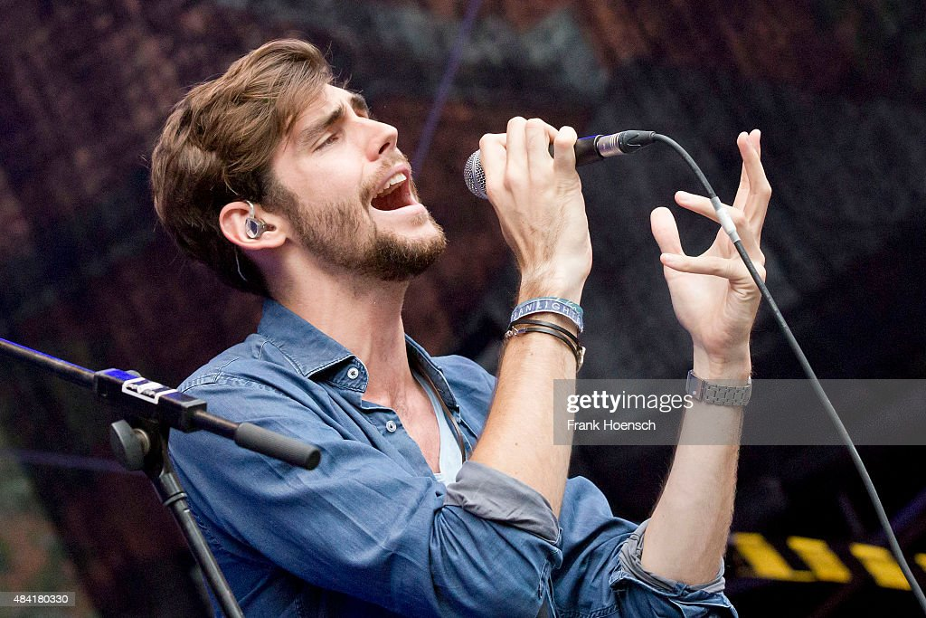 Spanish singer Alvaro Soler performs live during a concert at the Energy Music Tour at the Kulturbrauerei on August 15 2015 in Berlin Germany