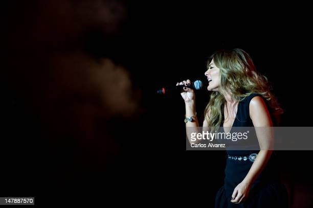 Spanish singer Amaia Montero performs on stage during Rock in Rio Madrid 2012 on July 5 2012 in Arganda del Rey Spain
