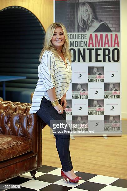 Spanish singer Amaia Montero poses during the presentation of her new album 'Si Dios quiere yo tambien' on September 10 2014 in Madrid Spain