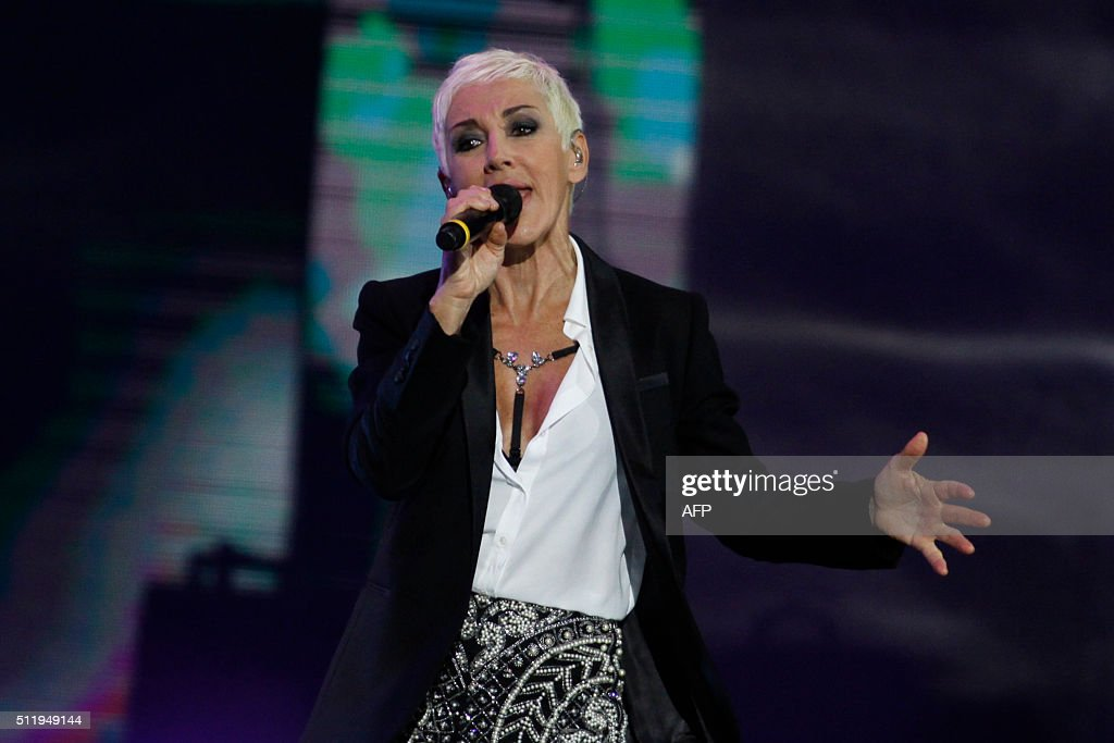 Spanish singer Ana Torroja performs during at the 57th of the Vina del Mar song festival in Vina del Mar Chile on February 23 2016 / AFP / LUIS COLLAO