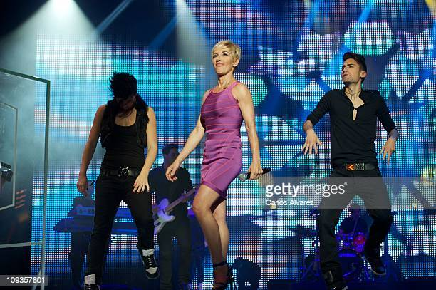 Spanish singer Ana Torroja performs on stage during 'Cadena Dial' awards 2011 ceremony at Tenerife Auditorium on February 22 2011 in Tenerife Spain