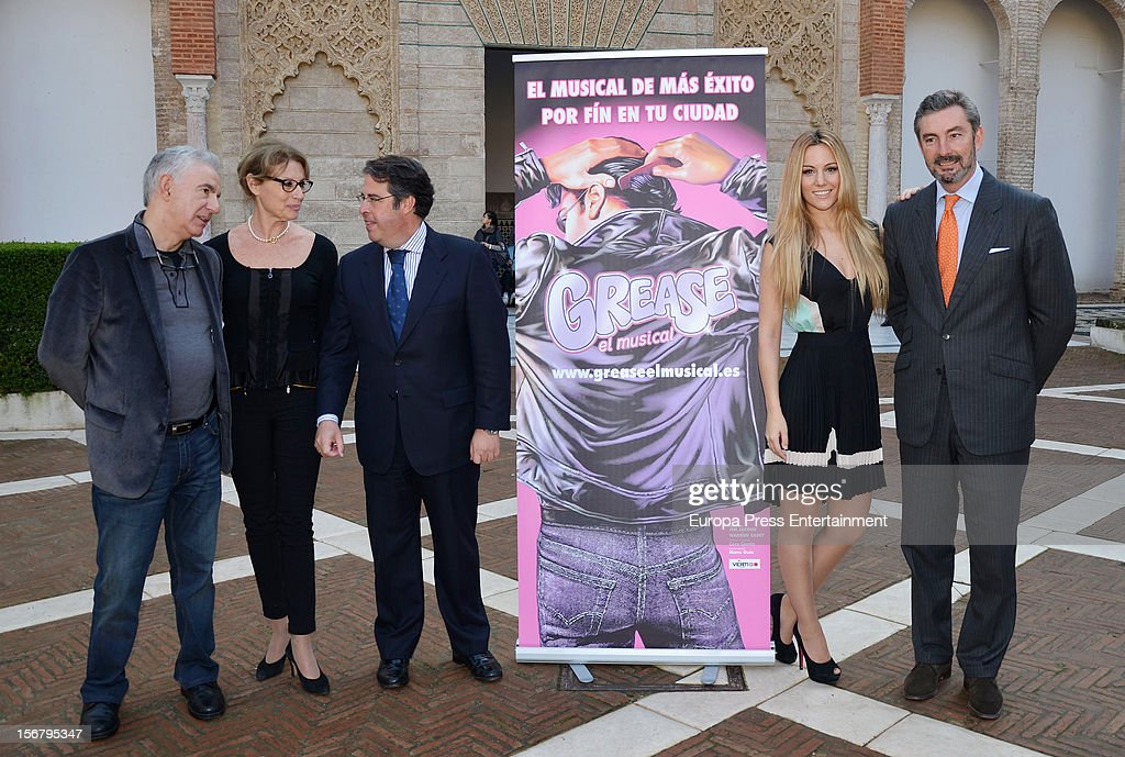 Spanish singer and actress and Manchester United goalkeeper David de Gea's girlfriend, Edurne presents 'Grease' musical on November 20, 2012 in Seville, Spain.
