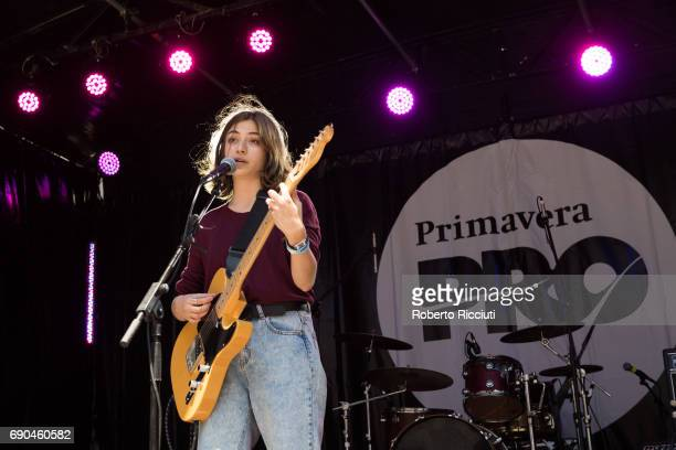 Spanish singer and actress Paula Jornet aka Pavvla performs on stage during Primavera Sound Festival 2017 Day 1 at Primavera a la Ciutat on May 31...