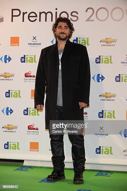 Spanish singer Antonio Orozco attends the ''Cadena Dial'' 2010 awards at the Tenerife Auditorium on February 11 2010 in Tenerife Spain