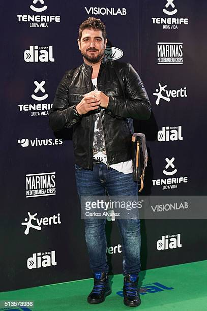 Spanish singer Antonio Orozco attends the 'Cadena Dial' 2015 awards at the Recinto Ferial on March 3 2016 in Tenerife Spain