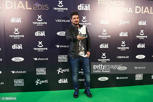 Spanish singer Antonio Orozco attends the 'Cadena Dial' 2015 awards press room at the Recinto Ferial on March 3 2016 in Tenerife Spain