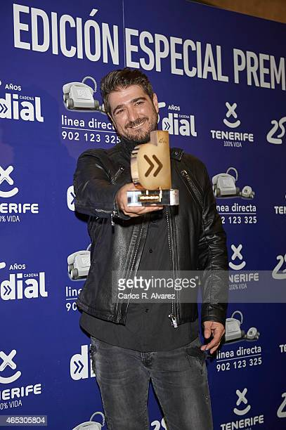 Spanish singer Antonio Orozco attends the Cadena Dial Awards 2014 press room at the Recinto Ferial Auditorium on March 5 2015 in Tenerife Spain