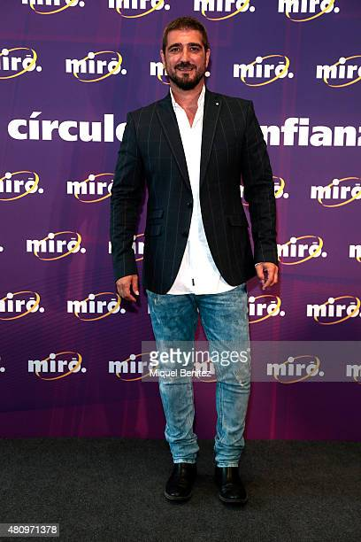 Spanish singer Antonio Orozco attends the New Image of 'Miro' at Miro store on the 'La Maquinista' mall on July 16 2015 in Barcelona Spain