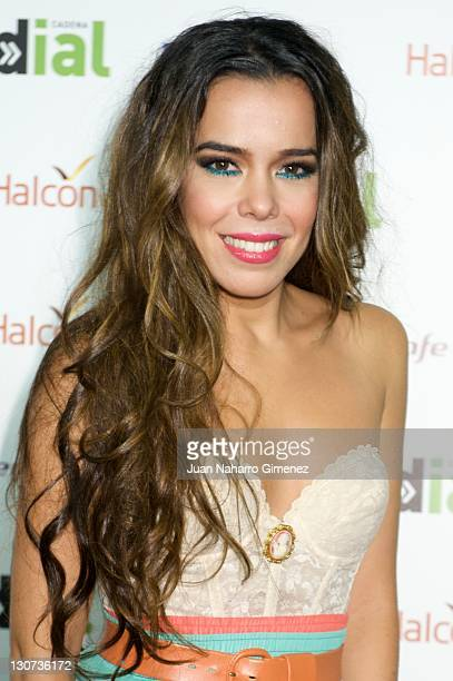 Spanish Singer Beatriz Luengo attends 'Lo Mejor de Aqui y de Alli' 2011 Gala by Cadena Dial Radio Station at Palacio de los Deportes on October 28...