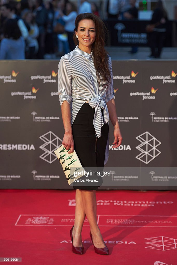 Spanish singer Bebe attends 'Koblic' premiere at the Cervantes Teather during the 19th Malaga Film Festival on April 29, 2016 in Malaga, .