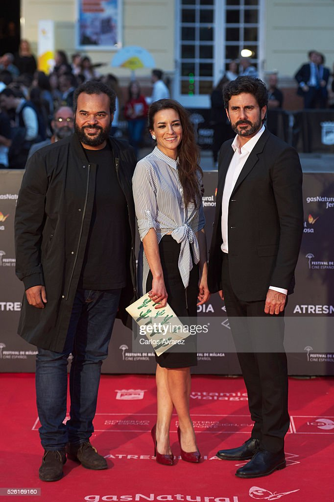 Spanish singer Bebe (C) attends 'Koblic' premiere at the Cervantes Teather during the 19th Malaga Film Festival on April 29, 2016 in Malaga, .