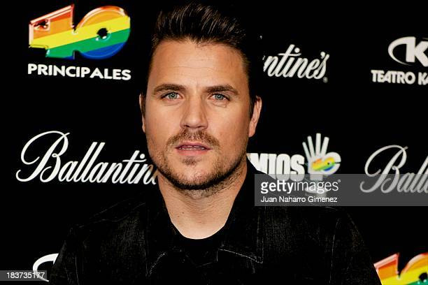Spanish singer Dani Martin attends Candidates for 40 Principales Awards 2013 presentation at Teatro Kapital on October 9 2013 in Madrid Spain