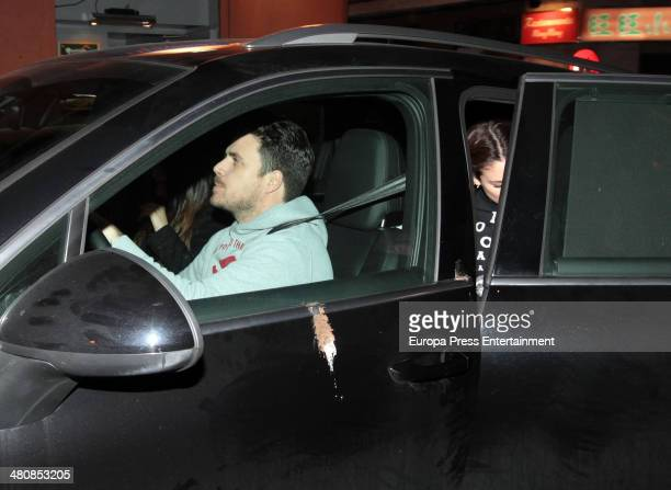 Spanish singer Dani Martin is seen arriving to pick up Blanca Suarez at set filming on March 4 2014 in Madrid Spain