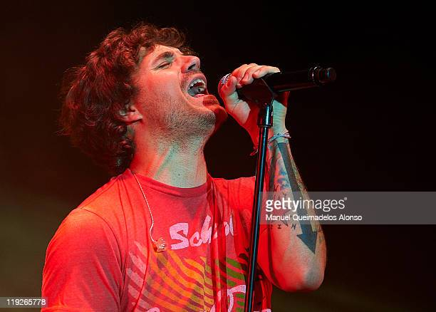 Spanish singer Dani Martin performs in concert during the Feria de Julio Music Festival on July 14 2011 in Valencia Spain