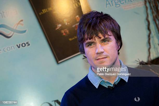 Spanish singer Dani Martin presents 'En Busca del Sonido del Tiempo' documentary at Casa de America on January 21 2011 in Madrid Spain