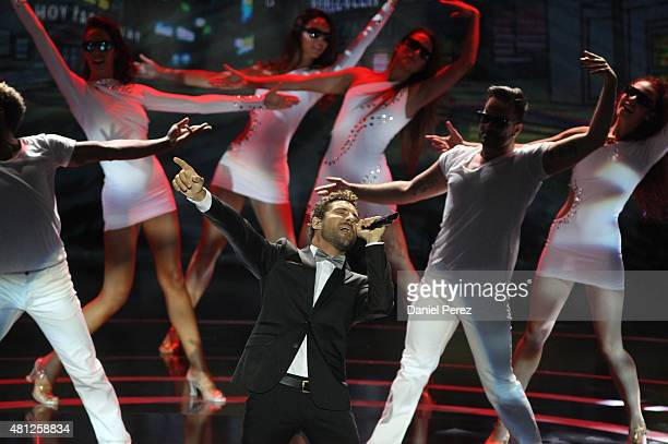 Spanish singer David Bisbal performs at TNTLA Platino Awards 2015 at Starlight Marbella on July 18 2015 in Marbella Spain
