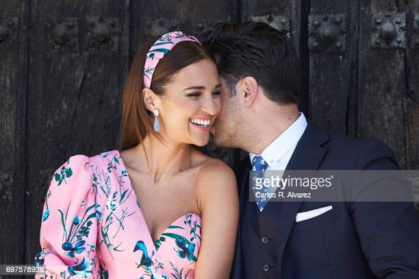 Spanish singer David Bustamante and Spanish actress Paula Echevarria attend Daniella Bustamante First Communion at the Nuestra Senora de los Angeles...