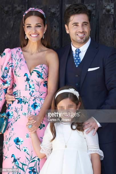 Spanish singer David Bustamante Spanish actress Paula Echevarria and their daughter Daniella Bustamante attend Daniella Bustamante First Communion at...