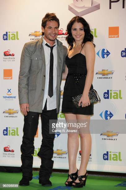 Spanish singer David de Maria and Spanish actress Andrea Duro attend the ''Cadena Dial'' 2010 awards at the Tenerife Auditorium on February 11 2010...