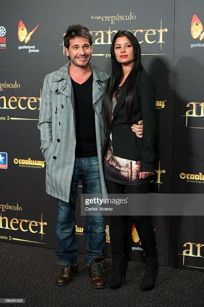 Spanish singer David de Maria (L) attends the 'The Twilight Saga: Breaking Dawn - Part 2' (La Saga Crepusculo: Amanecer Parte 2) premiere at the Kinepolis cinema on November 15, 2012 in Madrid, Spain.