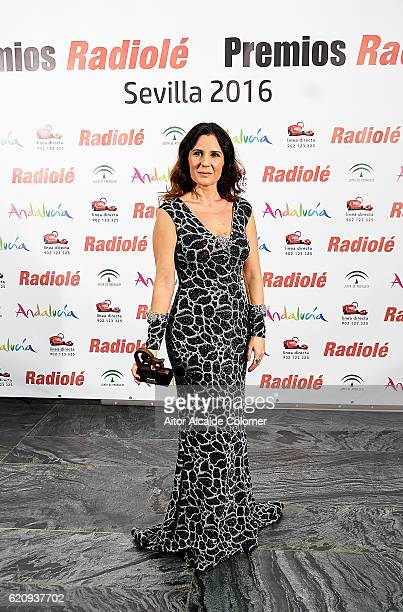 Spanish singer Diana Navarro attends the Radiole Awards 2016 photocall at FIBES Sevilla on November 3 2016 in Seville Spain