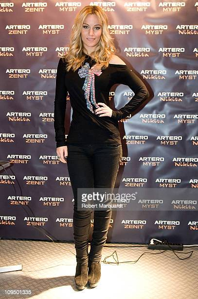 Spanish singer Edurne attends a presentation of the new hair product line by 'Artero' at the Fira Cosmobelleza on February 28 2011 in Barcelona Spain