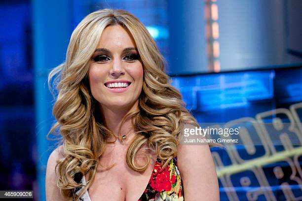 Spanish singer Edurne attends 'El Hormiguero' Tv show at Vertice Studio on March 11 2015 in Madrid Spain