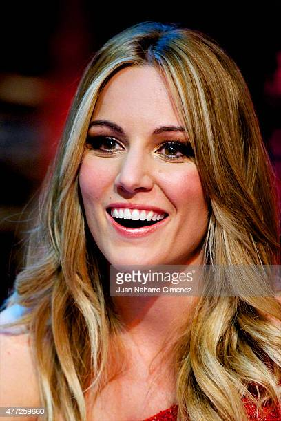 Spanish singer Edurne attends 'El Hormiguero' Tv show at Vertice Studio on June 15 2015 in Madrid Spain