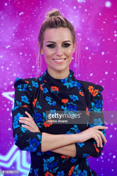Spanish singer Edurne attends 'Got Talent' photocall at the Coliseum Teather on July 12 2017 in Madrid Spain