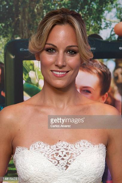 Spanish singer Edurne attends Sony Rosa Clara event at Rosa Clara store on July 11 2012 in Madrid Spain