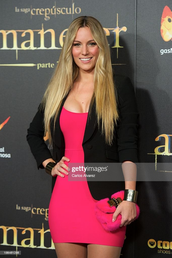 Spanish singer Edurne attends the 'The Twilight Saga: Breaking Dawn - Part 2' (La Saga Crepusculo: Amanecer Parte 2) premiere at the Kinepolis cinema on November 15, 2012 in Madrid, Spain.