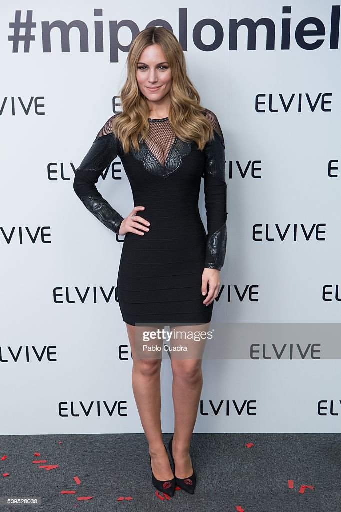 Spanish singer <a gi-track='captionPersonalityLinkClicked' href=/galleries/search?phrase=Edurne&family=editorial&specificpeople=649428 ng-click='$event.stopPropagation()'>Edurne</a> is presented as new ambassador of 'Elvive' on February 11, 2016 in Madrid, Spain.