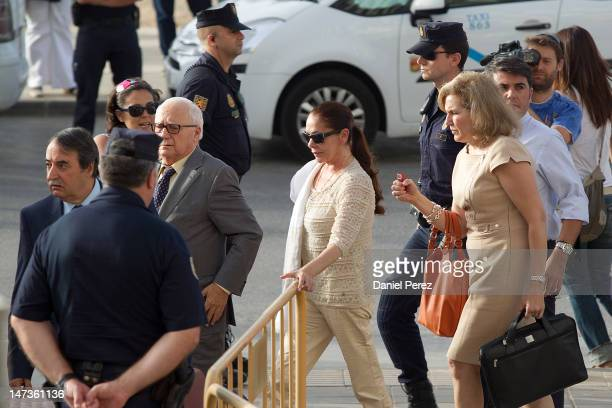 Spanish singer Isabel Pantoja arrives at the Malaga court on the first day of the trial for alleged moneylaundering and embezzlement on June 28 2012...