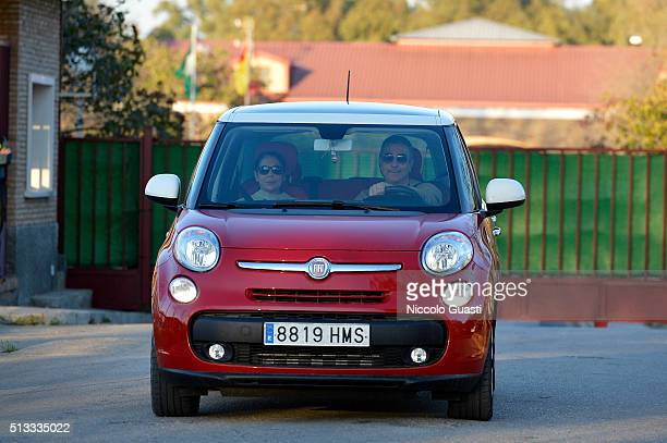 Spanish singer Isabel Pantoja with her brother Agustin Pantoja leaving the jail after getting the conditional release on March 2 2016 in Alcala de...