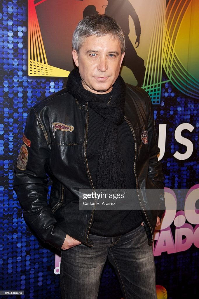 Spanish singer Javier Herrero attends '40 El Musical' premiere at the Rialto Theater on January 31, 2013 in Madrid, Spain.