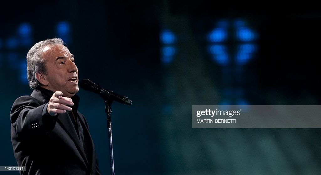 Spanish singer Jose Luis Perales performs during the 53nd Vina del Mar International Song Festival on February 27, 2012 in Vina del Mar, Chile .