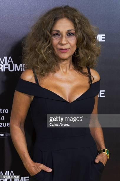 Spanish singer Lolita Flores attends the 'Academia del Perfume' awards 2017 at the Zarzuela Teather on May 22 2017 in Madrid Spain