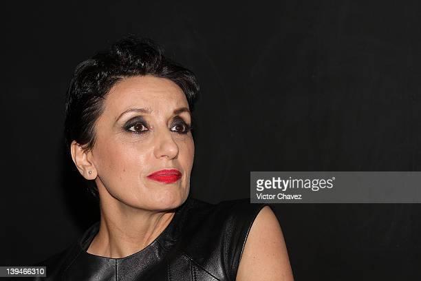 Spanish singer Luz Casal attends a press conference to promote her new album 'Un Ramo de Rosas' at Plaza Condesa on February 20 2012 in Mexico City...