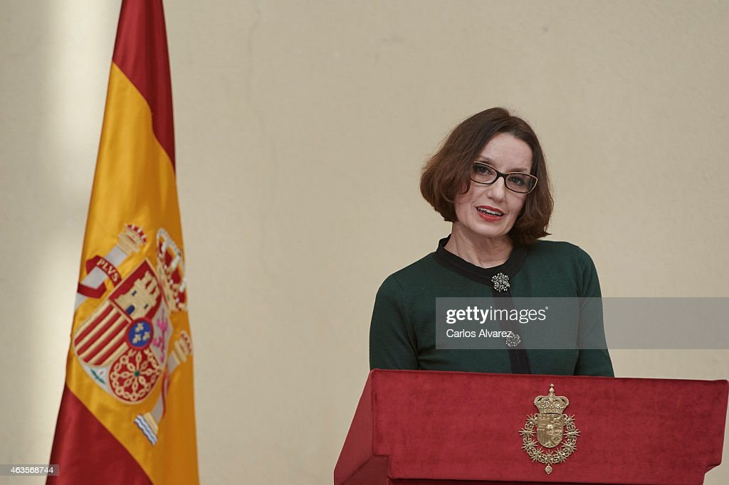Spanish singer Luz Casal attends the 'National Culture' awards at the El Pardo Palace on February 16, 2015 in Madrid, Spain.