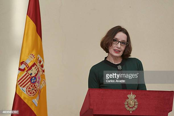 Spanish singer Luz Casal attends the 'National Culture' awards at the El Pardo Palace on February 16 2015 in Madrid Spain