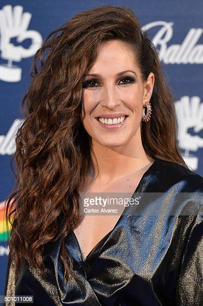 Spanish singer Malu attends the 40 Principales Awards 2015 photocall at the Barclaycard Center on December 11 2015 in Madrid Spain