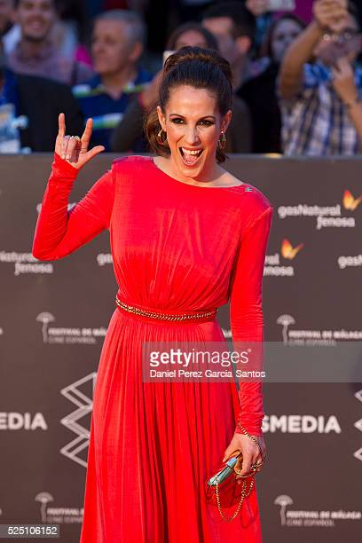 Spanish singer Malu attends 'Zoe' premiere during the 19 Malaga Film Festival at the Cervantes Teather on April 27 2016 in Malaga Spain