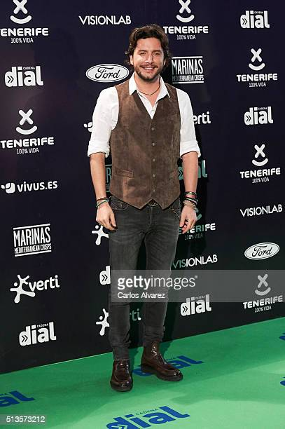 Spanish singer Manuel Carrasco attends the 'Cadena Dial' 2015 awards at the Recinto Ferial on March 3 2016 in Tenerife Spain