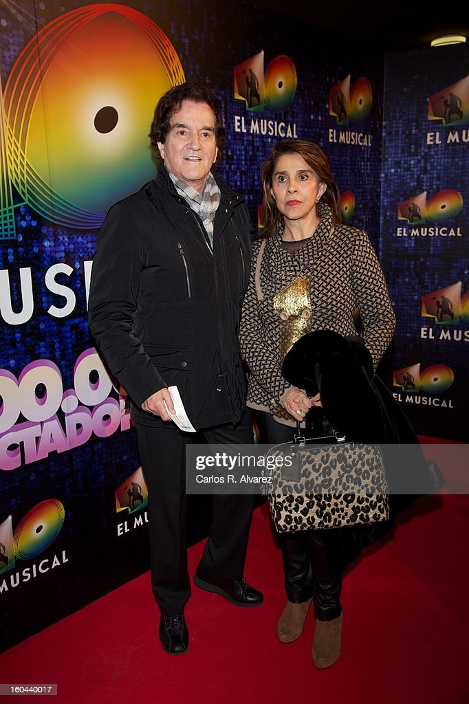 Spanish singer Manuel de la Calva attends '40 El Musical' premiere at the Rialto Theater on January 31, 2013 in Madrid, Spain.