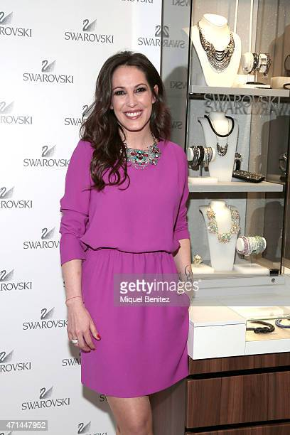 Spanish singer Maria Lucia Sanchez Benitez 'Malu' attends the New Swarovski Boutique at Rambla Catalunya on April 28 2015 in Barcelona Spain