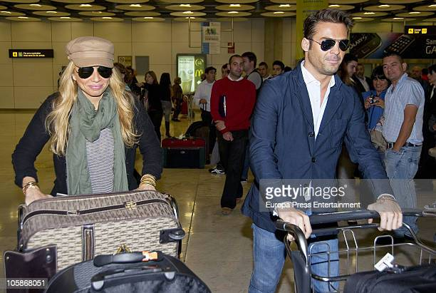 Spanish singer Marta Sanchez and her boyfriend Hugo Castejon are seen sighting on October 21 2010 in Madrid Spain