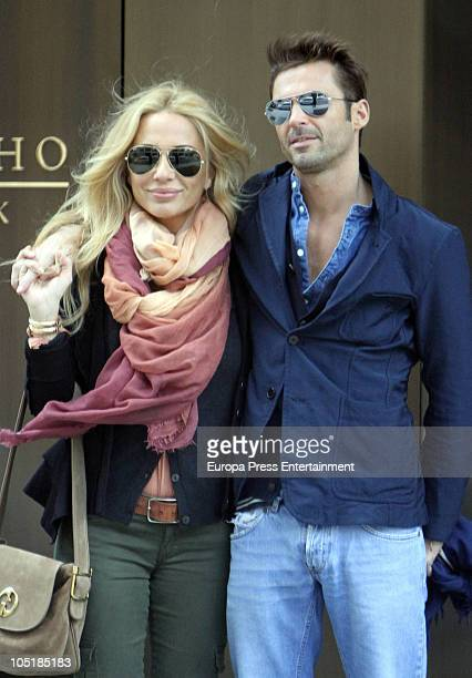 Spanish singer Marta Sanchez and her new boyfriend Hugo Castejon are seen on October 10 2010 in New York New York