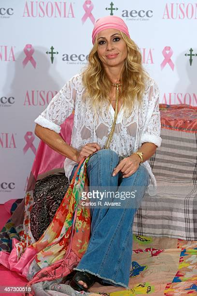 Spanish singer Marta Sanchez attends 'Bandera de la Esperanza' new campaign against cancer presentation at the Petit Palace Savoy Hotel on October 16...